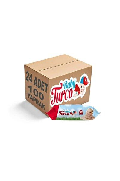 Baby Turco Islak Havlu Mendil Klasik Kapaklı 24'lü Set - 2400 Yaprak
