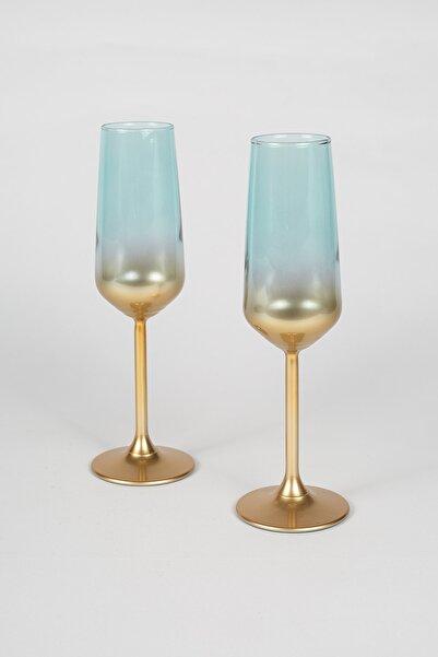Rakle Glow 2'li Şampanya Kadehi Seti Yeşil 195 cc