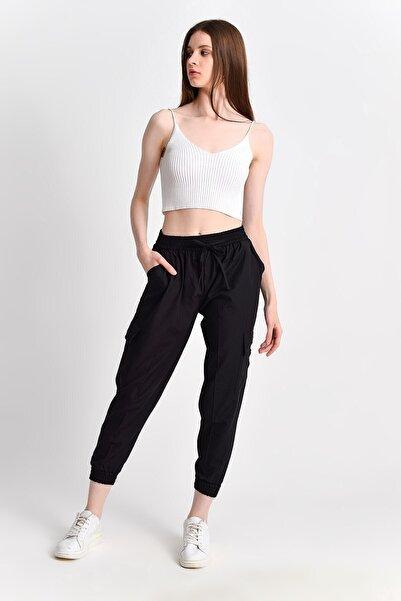 Cotton Mood 9292936 Kargo Cepli Pantolon Sıyah
