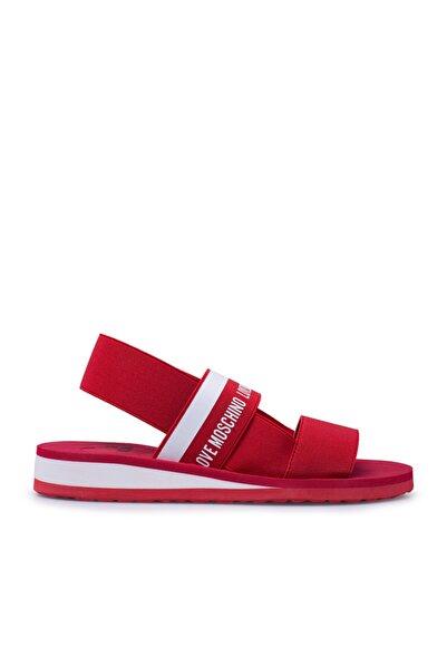 Love Moschino Kadın Kırmızı Düz Taban Sandalet Ja16013g0ajw1500