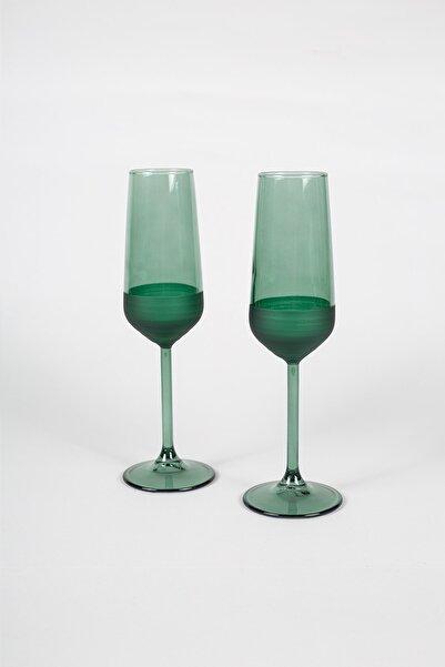 Rakle Matte 2'li Şampanya Kadehi Seti Yeşil 195 Cc