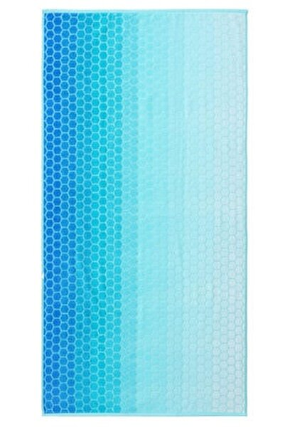 Summer Heat Ombre Mavi Kadife 70x140 Cm. Plaj Havlusu