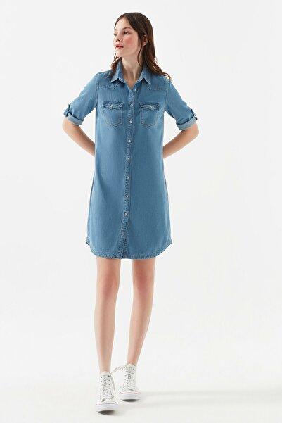 Kadın Bree Mavi Jean Elbise 130420-26176