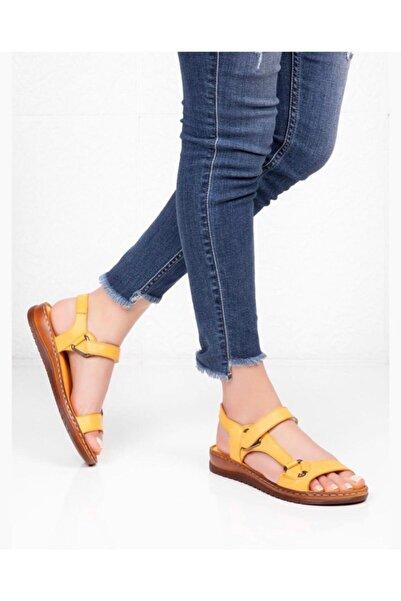 Kadın Sarı Comfot Sandalet