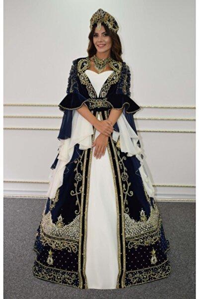Nur Moda Evi Kadın Lacivert Bindallı D-359