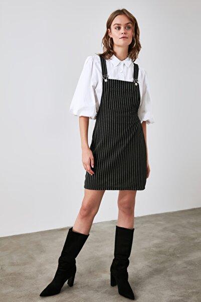 TRENDYOLMİLLA Siyah Askılı Jile Örme Elbise TWOAW21EL1799