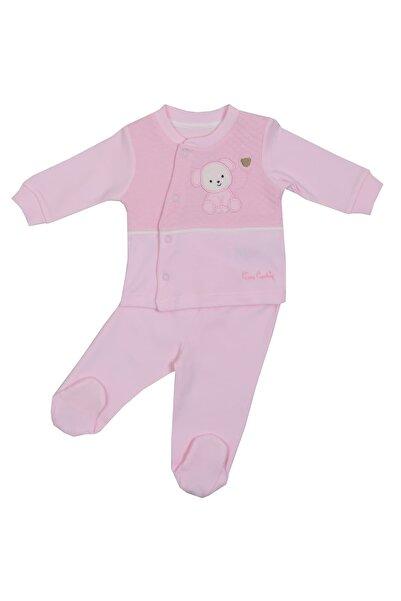 Pierre Cardin Baby Pierre Cardin Ayıcık Figürlü Patikli Bebek Takımı Pembe