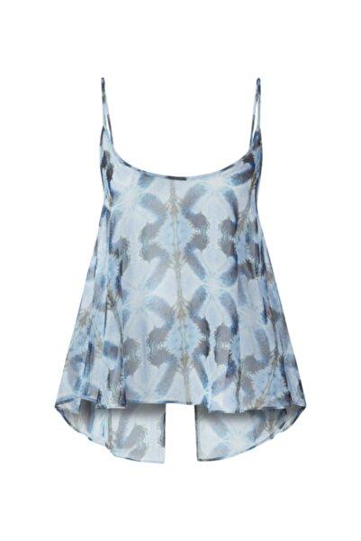 Meltem Özbek Kadın Mavi Şifon Bluz