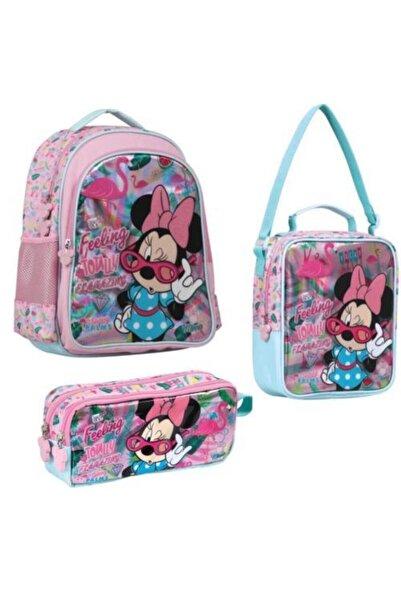 Minnie Mouse Mınnıe Mouse Pembe Ilkokul Çanta Seti