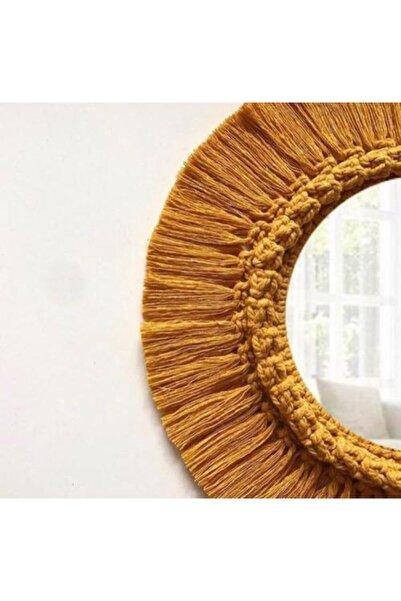 Cs Bohem Design Burina Makrome Bohem Ayna Dekor - 40 Cm