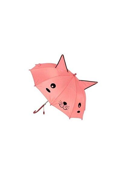 MOBGİFT Kız Çocuk Pembe Kulaklı Ve Düdüklü  Şemsiyesi