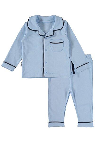 hepbaby Biyeli Bebek Pijama Takımı – Mavi – 9-18 Ay