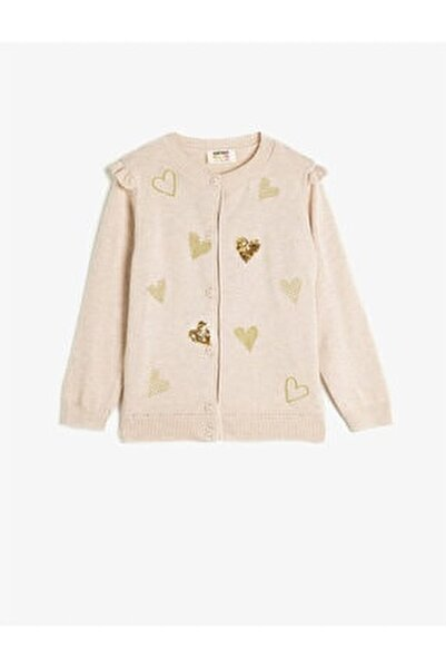 Sequin Detailed Frilled Cardigan