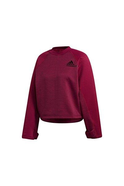 adidas Kadın Antrenman Sweatshirts Pembe W Zne A C Crdy Fs2384