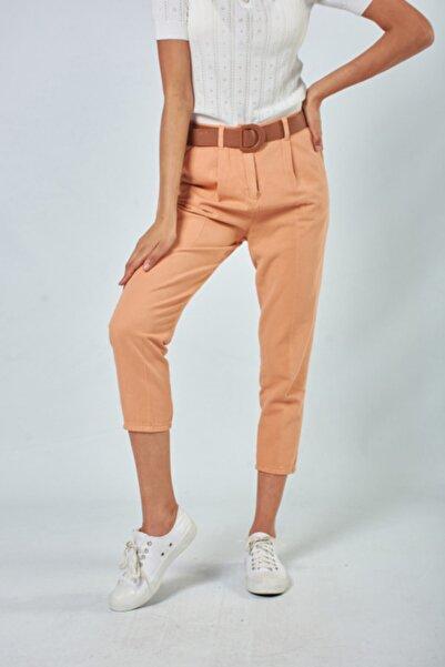 Lefon Kadın Turuncu Pantolon