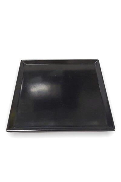 Evren 20*20cm Siyah Sunum Tabağı Thermo Melamin