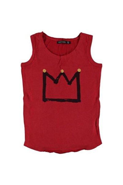 Victory Erkek Çocuk Kırmızı Penye Tişört