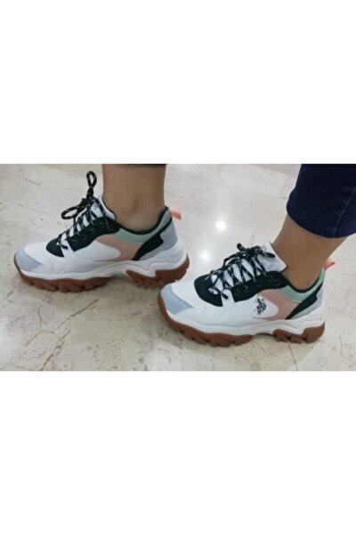 U.S POLO Unisex Beyaz Spor Ayakkabı