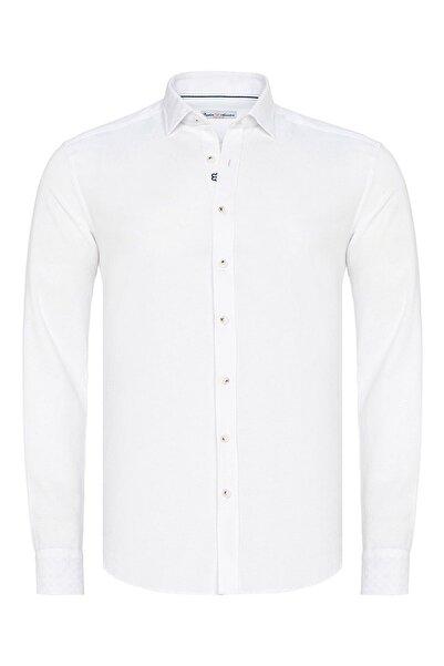 Paşahan Beyaz Slim Fit Casual Gömlek