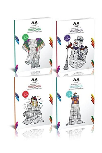 Akıllı Adam Çocuklar Için Mandala Boyama Seti (4 Kitap)