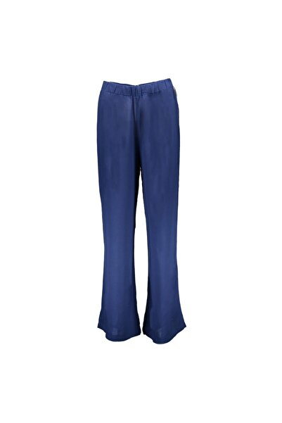 Collezione Indigo Beli Lastikli Bol Paça Kadın Pantolon
