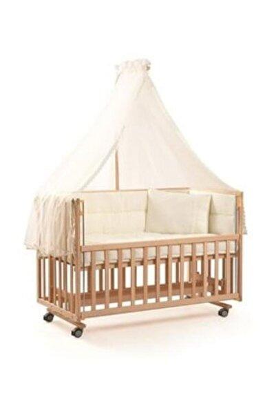 Bebe De Luxe Tahterevalli Mika Anne Yanı Ahşap Beşik Organık 70*130