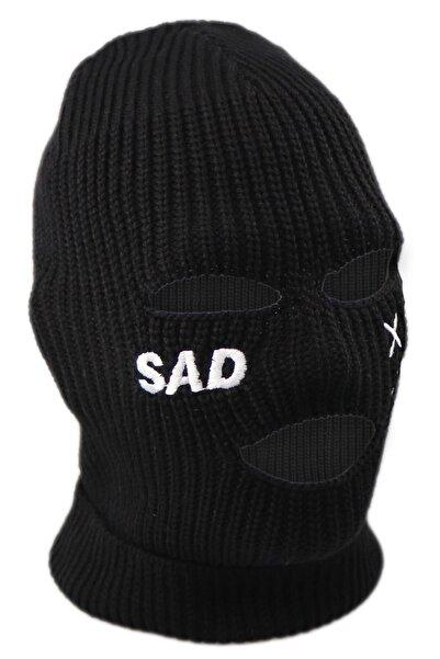 zirve şapka Kışlık Unisex 3 Gözlü Kar Maskesi Siyah