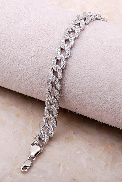 Sümer Telkari Taşlı Gurmet Gümüş Zincir Bileklik 3476