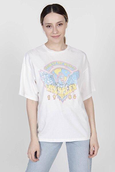 Addax Baskılı T-shirt P0929 - K2