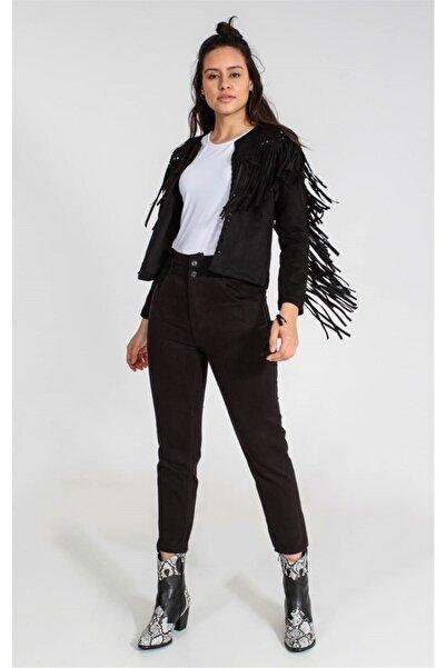 Collezione Siyah Kadın Taba Spor Regular Ceket