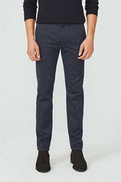 Avva Erkek Lacivert Yandan Cepli Flanel Slim Fit Pantolon A02y3057