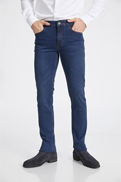 Avva Erkek Lacivert Slim Fit Jean Pantolon A02y3529
