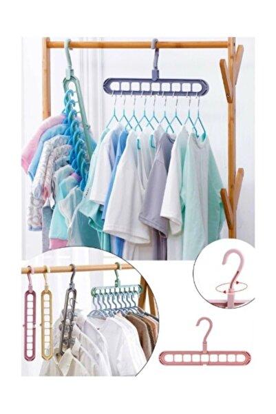 Meleni Home 2 Adet Sihirli Askı Çok Fonksiyonlu Elbise Dolap Içi Düzenleyici Askı