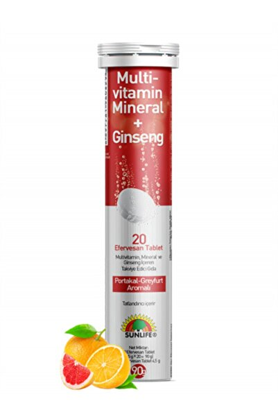 Sunlife Multi-vitamin, Mineral + Ginseng 20 Eff Tablet