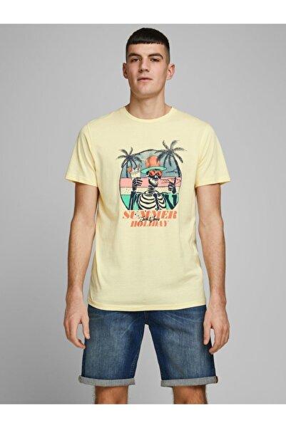 Jack & Jones Jack Jones Oniket Tee Ss Crew Neck Fst Erkek Bej Tshirt 12173024-06