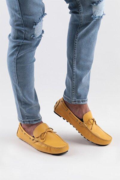 Buffalo Erkek Sarı Günlük Deri Ayakkabı