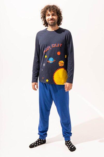 Katia&Bony Space Erkek Pijama Takımı - Lacivert