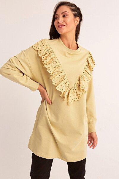 Fulla Moda Güpür Detaylı Tunik