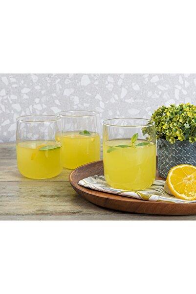 English Home Şeffaf Sare Cam 3'lü Meşrubat Bardağı 270 ml