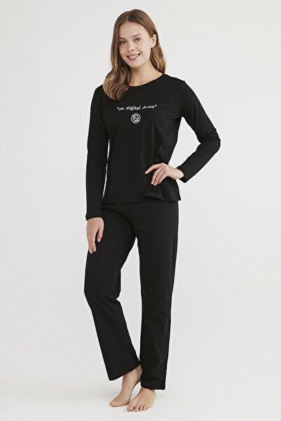Penti Kadın Siyah Base Detox Pijama Takımı