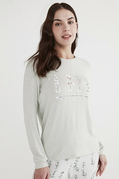 Penti Mint Yeşili Mint Happy Sweatshirt