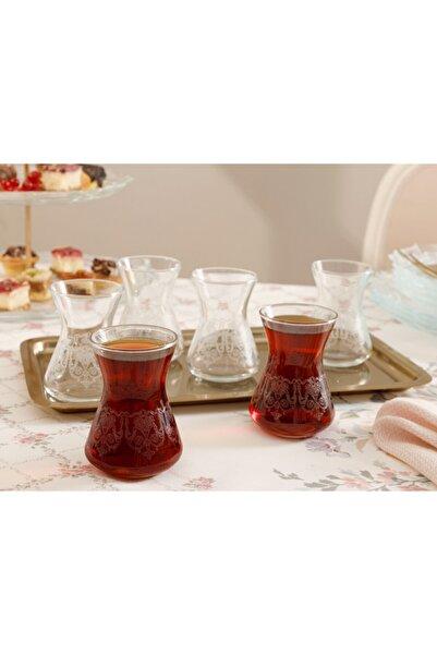 English Home Şeffaf Pannel Cam 6'lı Çay Bardağı 125 ml