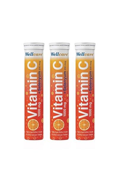 Wellcare Vitamin C + Selenyum15 Efervesan Tablet - 3 Adet