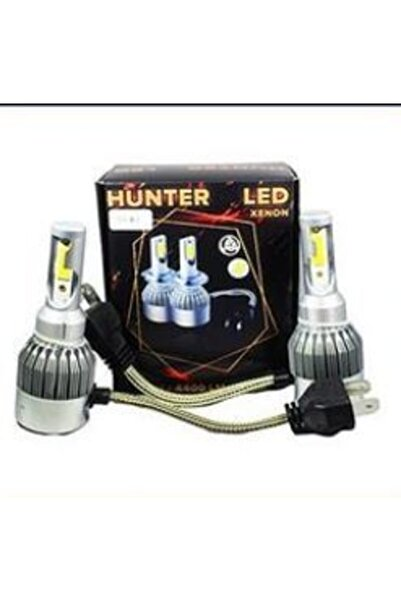 Hunter H4 Led Xenon Beyaz H4 Far Ampul H4 Şimşek Etkili