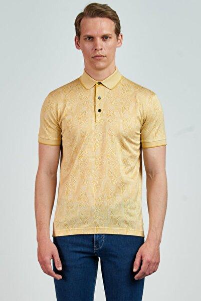 Giovane Gentile Erkek Sarı T-Shirt