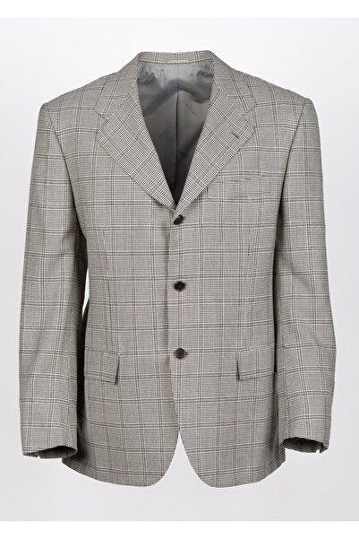 KITON Erkek Gri Düğmeli Ceket