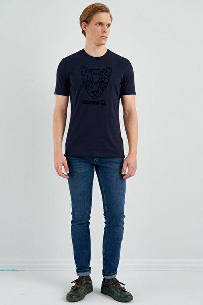 Giovane Gentile Erkek Lacivert Kısa Kollu T-shirt