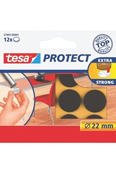 Tesa Protect Çizilmeye Karşı Koruma Sağlayan Keçe, Yuvarlak, 22mm, 12 adet, kahverengi