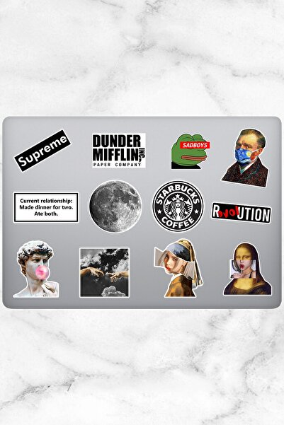 Varonesa Aesthetic Temalı Laptop Sticker (12 Adet)