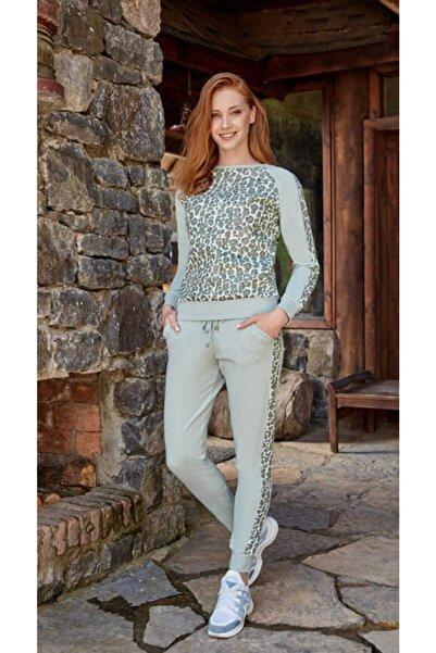 Berrak Kadın Leopar Desen Pijama Takımı